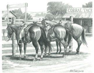 Jack Wells Western Art And Rodeo Art And Cowboy Drawings